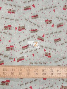 Winter Village Santa's Slay Gray By RJR Fabrics
