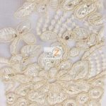 Anastasia Floral Sequins Lace Fabric Beige