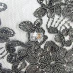 Anastasia Floral Sequins Lace Fabric Black