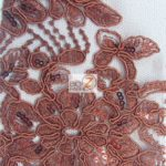 Anastasia Floral Sequins Lace Fabric Burgundy