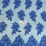 Anastasia Floral Sequins Lace Fabric Royal Blue