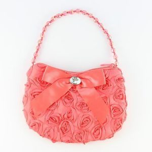 Cute Rosette Taffeta Small Purse