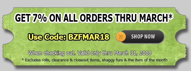 Big Z Fabric March Madness Sale!!!