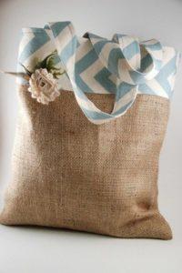 Burlap Fabric Fashion Bag