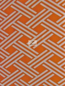Premium Lattice Canvas Outdoor Waterproof Fabric Orange