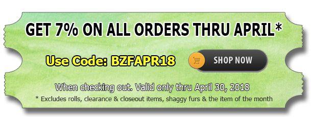 Save 7% Off – Big Z Fabric April Sale