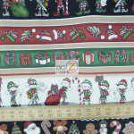 CHRISTMAS COTTON HOLLY JOLLY SANTA'S HELPERS BY DAN MORRIS