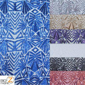 1 collage Low Price Geometric Sequins Fabric