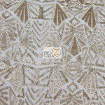 Low Price Geometric Sequins Fabric Gold