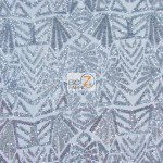 Low Price Geometric Sequins Fabric Silver