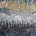 Low Price Moon Shadow Sequins Fabric Multi-Color Black