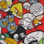 Low Price Angry Birds Fleece Fabric Assorted Birds