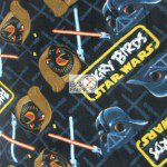 Low Price Angry Birds Fleece Fabric star wars battle