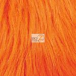 Low Priced Solid Gorilla Fur Fabric Orange