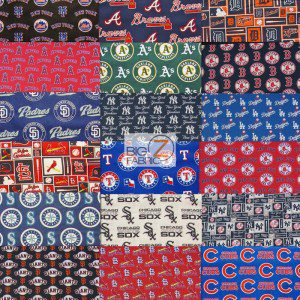 1 Collage LOW PRICE MLB COTTON FABRIC