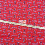 LOW PRICE MLB COTTON FABRIC LOS ANGELES ANGELS