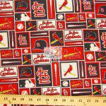 LOW PRICE MLB COTTON FABRIC ST. LOUIS CARDINALS RETRO