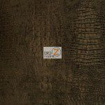 Low Price Alligator Chenille Fabric Chocolate