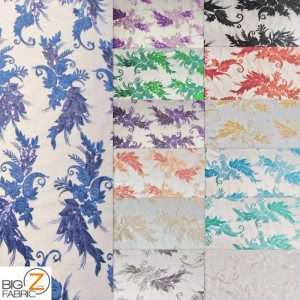 Low Price Angel Floral Sequins Fabric