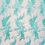 Low Price Angel Floral Sequins Fabric Mint