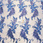 Low Price Angel Floral Sequins Fabric Royal