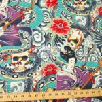 Low Price Alexander Henry Zen Charmer Oriental Curse Cotton Fabric