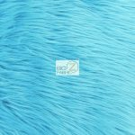Low Price Grizzly Shaggy Fur Fabric Turquoise