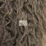 Low Price Curly Alpaca Fur Fabric Brown