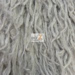 Low Price Curly Alpaca Fur Fabric Oyster