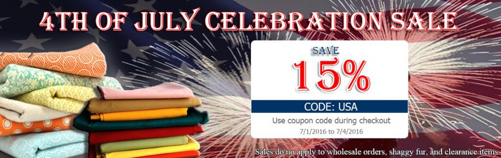 4th of July Big Z Fabric Weekend Sale