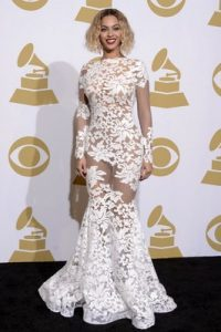 Beyonce Sequins Grammy Dress