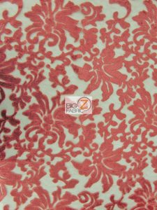 Low Price Floral Fashion Sequins Fabric Coral