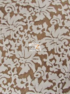 Low Price Floral Fashion Sequins Fabric White