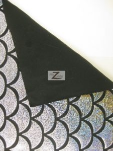 Low Price Scale Foil Nylon Spandex Fabric Backing