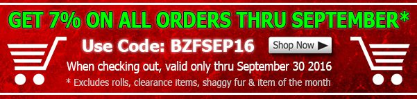 Big Z Fabric September 2016 Discount