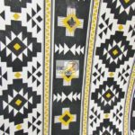Low Price Aztec Riley Blake Cotton Duck Fabric Black