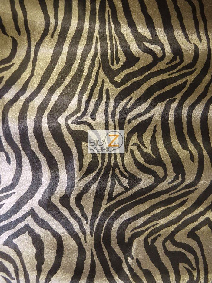Low Price Zebra Vinyl Fabric Dark Silver/Black