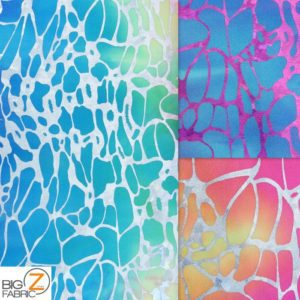 Low Price Spider Web Tie Dye Spandex Fabric