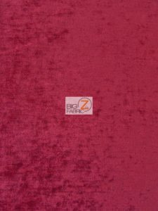 Low Price Double Sided Chenille Fabric Burgundy