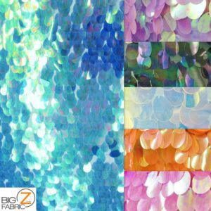 Low Price Jumbo Teardrop Sequins Fabric