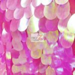 Low Price Jumbo Teardrop Sequins Fabric Fuchsia