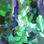 Low Price Jumbo Teardrop Sequins Fabric Green