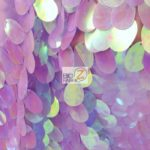 Low Price Jumbo Teardrop Sequins Fabric Lilac