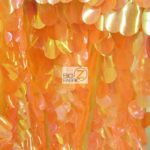 Low Price Jumbo Teardrop Sequins Fabric Orange