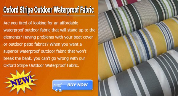 Low Price Oxford Stripe Outdoor Fabric