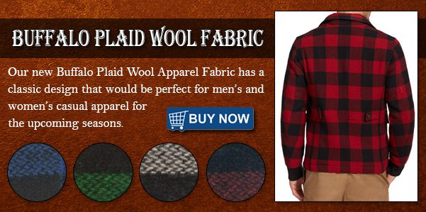Low Price Buffalo Plaid Wool Fabric