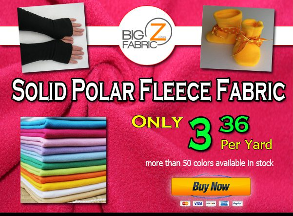 LAST DAYS TO SAVE! 15% OFF Fleece Fabric