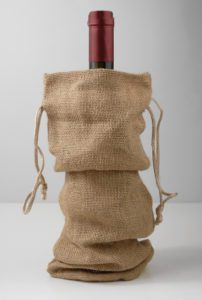 Burlap Fabric Wine Bag
