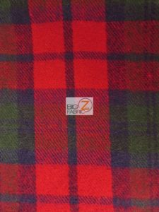 Tartan Plaid Uniform Apparel Flannel Fabric Red/Green