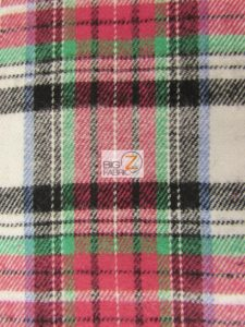 Tartan Plaid Uniform Apparel Flannel Fabric White/Red